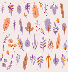seamless pattern with leaf botanical floral vector image