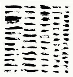 set hand drawn scribbles vector image
