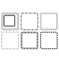 set of square frames for valentine day vector image