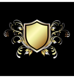 shield design element vector image