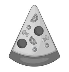 slice of pizza icon monochrome vector image