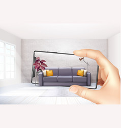 smartphone augmented reality composition vector image