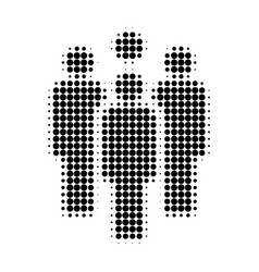 staff halftone dotted icon vector image