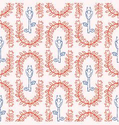 Stylized dutch tulip trellis seamless vector