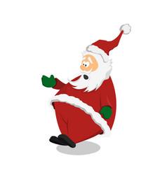 surprised santa claus in cartoon style vector image