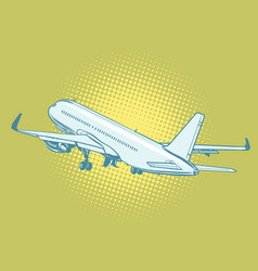 takeoff a passenger plane vector image
