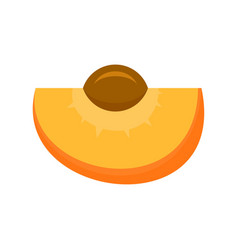 Tasty apricot icon flat style vector