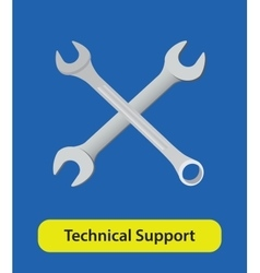 technical support symbol sign with wrench vector image