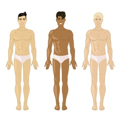 three men vector image
