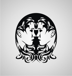 Tribal Gemini Sign vector image