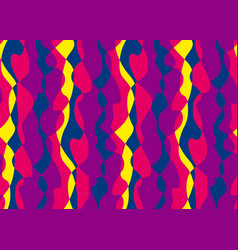 Tropical bright colors wavy seamless pattern vector