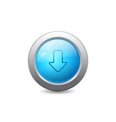 Web button with down arrow vector image