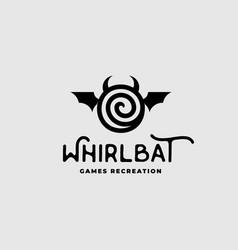 whirl bat game logo vector image