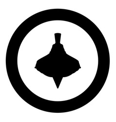 whirligig black icon in circle vector image