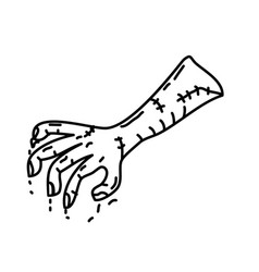 zombie stump icon doodle hand drawn or black vector image