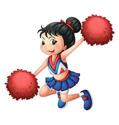 A cheerleader dancing vector image vector image