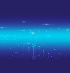 abstract digital technology with blue light vector image vector image