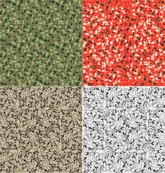 Camouflage pattern set background vector image