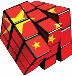 Chinese cube vector image