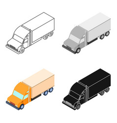 truck icon in cartoon style isolated on white vector image vector image