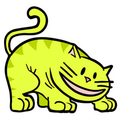 yellow cat vector image
