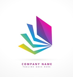 abstract shape colorful logo template design vector image vector image