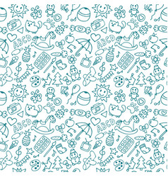 background for little boys and girls doodle vector image vector image