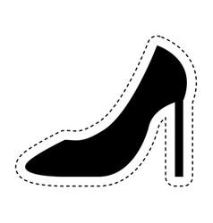 female shoe isolated icon vector image