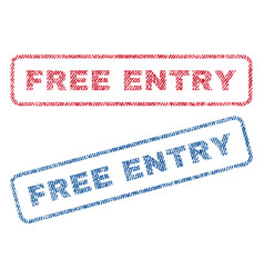 free entry textile stamps vector image
