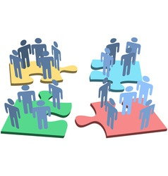 human group people organization puzzle pieces solu vector image