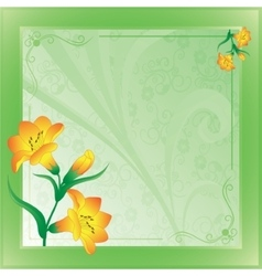 scope with lilies on green vector image