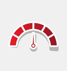 speedometer sign new year vector image