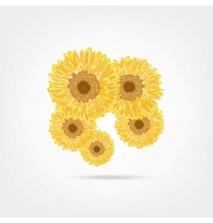 Sunflowers sketch for your design vector image