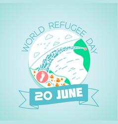 20 june world refugee day vector image