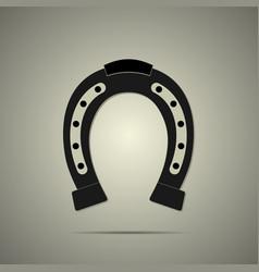 horseshoe icon in flat style vector image