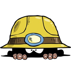 miner in a hole vector image