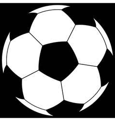 Ball on black vector image vector image