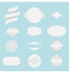 Blank Labels Set vector image vector image