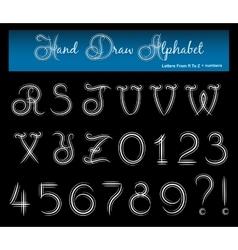 Hand Draw Alphabet 2 vector image vector image