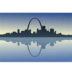 Saint Louis Downtown Riverfront vector image vector image