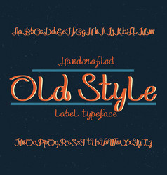 vintage label typeface vector image