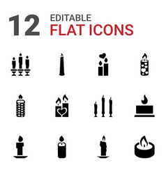 12 church icons vector image