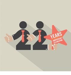 22 Years Anniversary Typography Design vector
