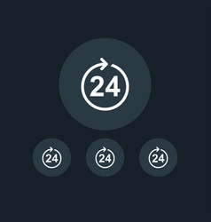 24 hour icon online shopping simple vector image