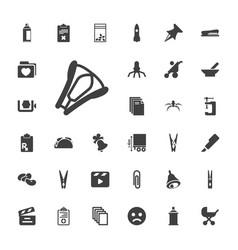 33 clip icons vector