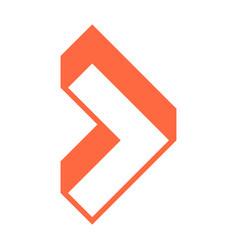 3d arrow sign three dimensional icon vector