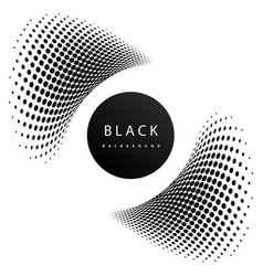 abstract black dots black background image vector image