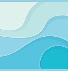Abstract blue background of curved lines or vector