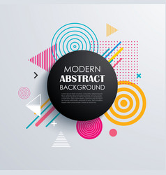 abstract circle geometric pattern design and vector image