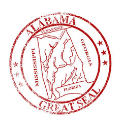 alabama state seal stamp vector image